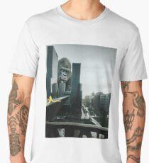 King Kong searching Banana in Town  Men's Premium T-Shirt