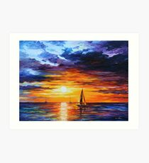 TOUCH OF HORIZON limited edition giclee of L.AFREMOV painting Art Print