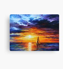 TOUCH OF HORIZON limited edition giclee of L.AFREMOV painting Canvas Print