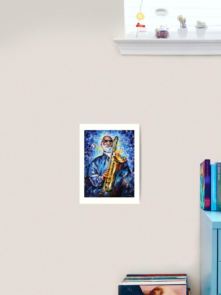 Printing on canvas-leonid afremov-sonny rollins-Impression of Fine Arts