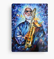 SONNY ROLLINS limited edition giclee of L.AFREMOV painting Metal Print