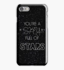 coldplay - a sky full of stars iPhone Case/Skin