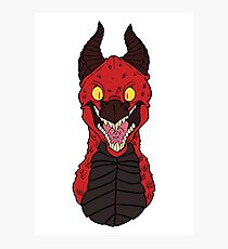 Angry Red Traditional Dragon Photographic Print