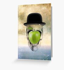 Magritte Skull Greeting Card