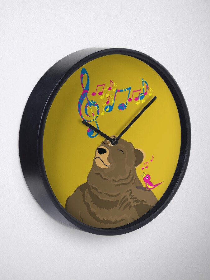 Alternate view of I See Music Clock
