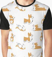 Corgi Pattern Graphic T-Shirt