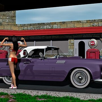 1960 Gas Station on Route 66 by Skyviper