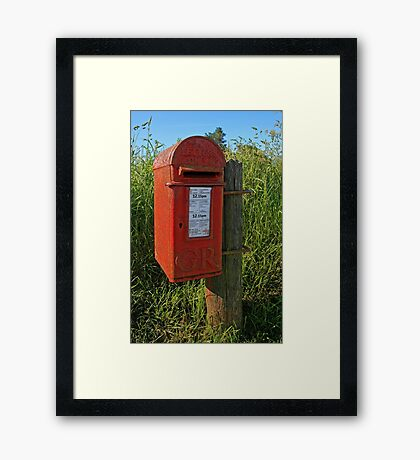 Country Post Box Framed Print