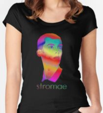 Stromae Pattern Women's Fitted Scoop T-Shirt