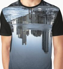 A reflection of  The John Hancock building in Chicago Graphic T-Shirt