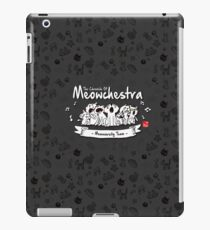 MEOWCHESTRA - Cute Cat Pattern (Black Edition) iPad Case/Skin