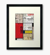 Mondrians News Framed Print