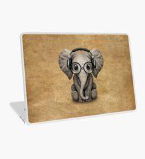 Cute Baby Elephant Dj Wearing Headphones and Glasses Laptop Skin