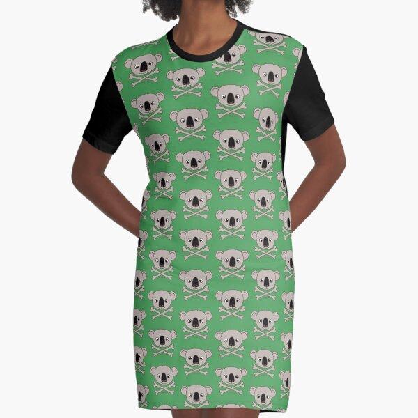 Fuzzybones™—Leaf (Koala) Graphic T-Shirt Dress