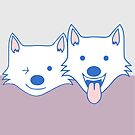 White dogs by weoos02