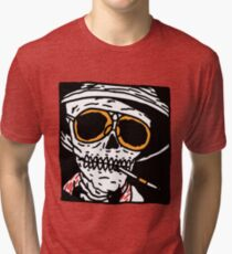 Fear and Loathing skull Tri-blend T-Shirt
