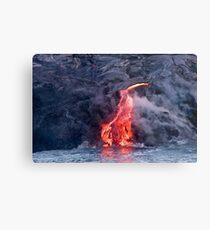 Lava Flow at Kalapana 2 Metal Print
