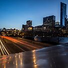 Chicago Skyline from the BP Bridge at dusk  by Sven Brogren