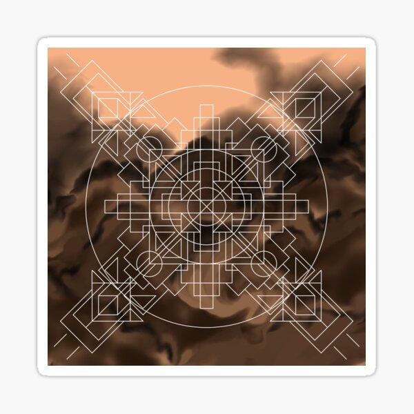 Symmetrically Abstract [Dark] Sticker