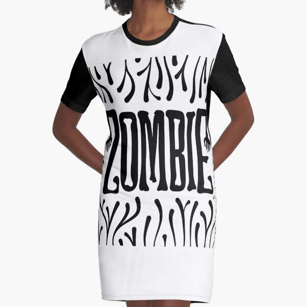 Zombie Logo (Creepy Dark) Graphic T-Shirt Dress