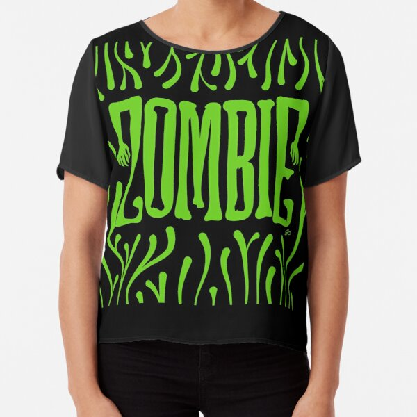 Zombie Logo (Creepy Green) Chiffon Top
