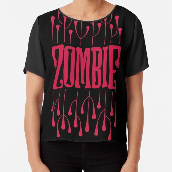 Zombie Logo (Bloody Red) Chiffon Top