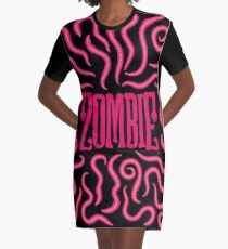 Zombie Logo (Red Worms) Graphic T-Shirt Dress