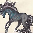 Black Magical Horse by Stephanie Small