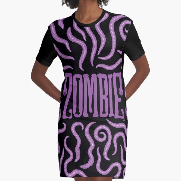 Zombie Logo (Purple Worms) Graphic T-Shirt Dress