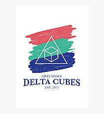 Greendale Delta Cubes Fraternity Photographic Print