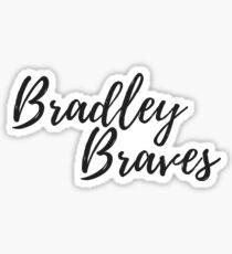 Bradley Braves Bradley University Cursive Sticker Sticker