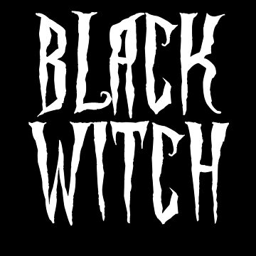Black witch, white magical, fantasy font by cool-shirts