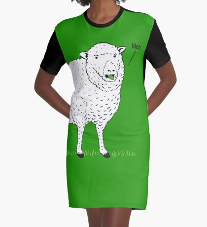 """Meh."" Graphic T-Shirt Dress"