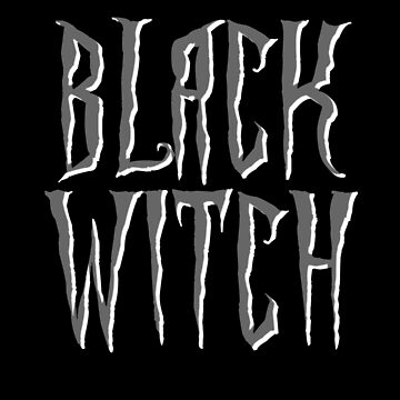 Black witch, gray and white magical, fantasy font by cool-shirts