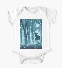 Stag in Winter Forest One Piece - Short Sleeve