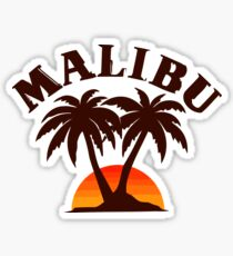 Malibu California T-shirt Sticker