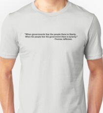 Liberty vs. Tyranny 4 Unisex T-Shirt