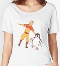 Aang the Penguin Women's Relaxed Fit T-Shirt