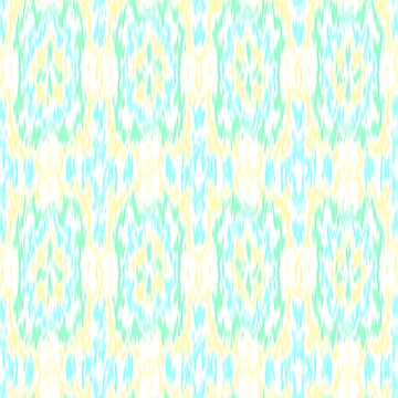 Blue, Green, and Yellow Ikat  by KaleiopeStudio