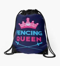 Fencing Queen Fencer Design Drawstring Bag