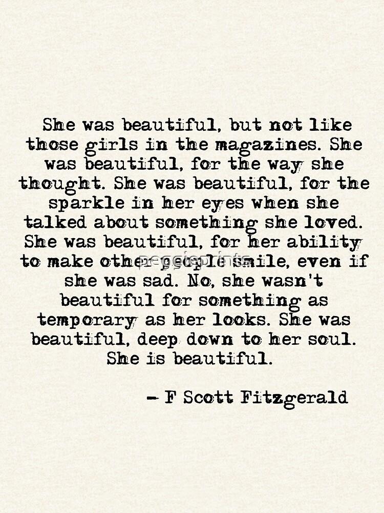 Sie war wunderschön - F Scott Fitzgerald von peggieprints