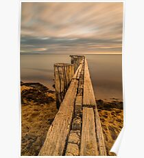 Sunset at the Mentone Groynes Poster