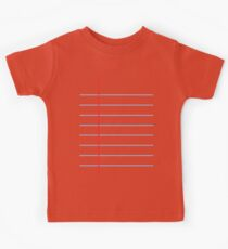 Notebook Paper Graphic - Wide Lines Kids Clothes