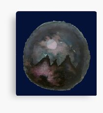 Mountains Under the Moon Canvas Print