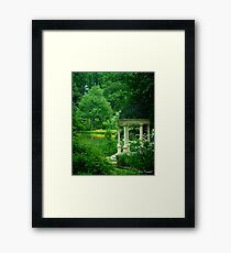 The Reflecting Garden © Framed Print