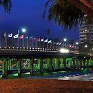 Old Traffic Bridge Mandurah by Peter Rattigan