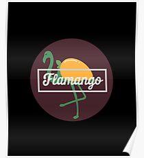 Flamango Flamingo Mango - Flamingos, Birds, Fowls, Animals, Ornithologists, Birdwatchers, Birders Gift Poster