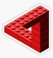 Escher Toy Bricks - Red Sticker