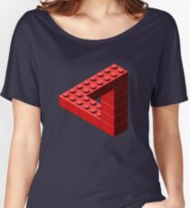 Escher Toy Bricks - Red Women's Relaxed Fit T-Shirt