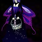 Purple Fairy with Basket of Stars by Stephanie Small